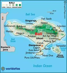 You can see all the hotspots of bali on this amazing painting www bali map and travel destination attractions mapbali mapmap of balibali altavistaventures Gallery