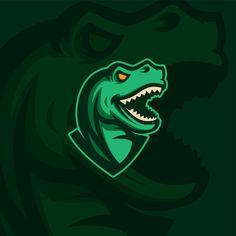 T-Rex logo concept on Behance, Pugb Mobile, T-Rex logo concept on Behance. Logo Esport, Typography Logo, Game Logo Design, Esports Logo, Mascot Design, Logo Design Inspiration, Design Ideas, Logo Sticker, Logo Concept
