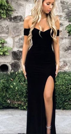 Buy Sexy Off the Shoulder Black V Neck Mermaid Open Back Prom Dresses with Side . Buy Sexy Off the Shoulder Black V Neck Mermaid Open Back Prom Dresses with Side Slit Online – Shmilyprom Open Back Prom Dresses, Cute Prom Dresses, Prom Outfits, Black Prom Dresses, Mermaid Prom Dresses, Tight Dresses, Sexy Dresses, Pretty Dresses, Casual Dresses