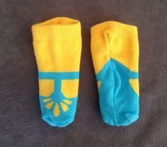 IDEA - Converted baby socks to doll socks.