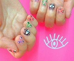 eye nails! - http://yournailart.com/eye-nails/ - #nails #nail_art #nails_design #nail_ ideas #nail_polish #ideas #beauty #cute #love