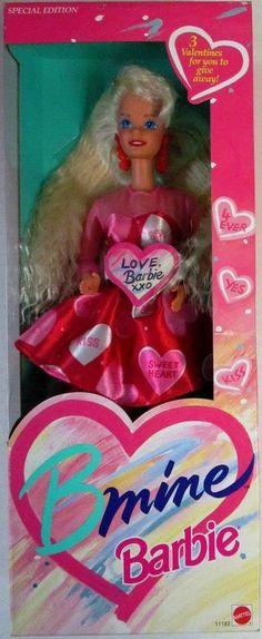 Amazon.com: BARBIE BMINE VALENTINE DOLL, SPECIAL EDITION, 1993 EDITION, #11182, NRFB: Toys & Games