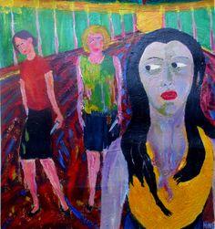 "Saatchi Online Artist mike hinc; Painting, ""SINISTER LIAISON"" #art"