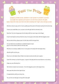 Pass The Prize Game Is A Cute And Hilarious Poem Game That Baby Shower  Guests Will