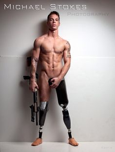 Christopher-VanEtton...Marine injured in combat turned model. This is so awesome on so many levels