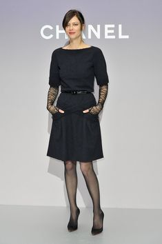 Anna Mouglalis Little Black Dress - Anna Mouglalis looked chic in this simple LBD at the Chanel photocall in Paris.