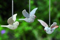 Spiraalhanger vogel #handmade #bird #home
