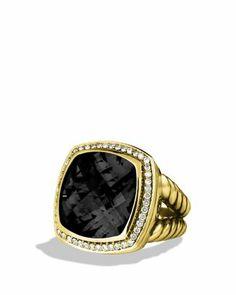 David Yurman Albion Ring with Black Onyx