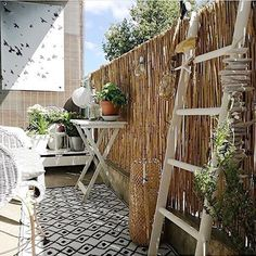 (notitle) – Angeles González Fernández – Dekoration - All About Balcony Modern Balcony, Small Balcony Decor, Tiny Balcony, Balcony Garden, Balcony Ideas, Interior Balcony, Balcony Furniture, Outdoor Spaces, Outdoor Living