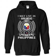 I May Live in Arkansas But I Was Made in the Philippine - #boyfriend shirt #tshirt scarf. CHECKOUT => https://www.sunfrog.com/States/I-May-Live-in-Arkansas-But-I-Was-Made-in-the-Philippines-wnctwrsyil-Black-Hoodie.html?68278