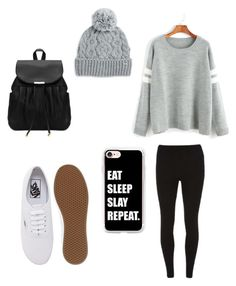 School outfit by sheisgaby on Polyvore featuring polyvore, fashion, style, WithChic, Dorothy Perkins, Vans, Casetify, Rella and clothing