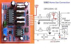 12 High Power Inverter Driver Board Square Wave Output Frequency Adjustment Inverters & Converters from Home Improveme… in 2019 Electronics Projects, Diy Electronics, Inverter Welder, Solar Inverter, Electronic Circuit Design, Electronic Engineering, Arduino Wireless, Switched Mode Power Supply, Electrical Circuit Diagram