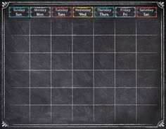 Chalk It Up! Large Calendar Chart (CTP1534)
