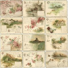 Download Version ANTIQUE 1897 CALENDAR IMAGES by greenpaperpackage
