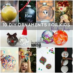 10 of the best ornaments for kids of all ages and levels to create, mainly on their own - makes such a great tradition and grandparents gift!