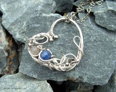 Hand made wire wrapped heart with sodalite