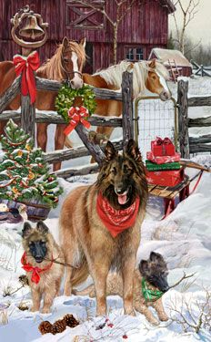 Belgian Tervuren Welcoming Committee -  by Margaret Sweeney