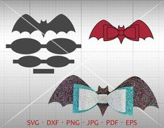 accessories hair Bat Bow SVG, DIY Halloween Bow Cut File, Leather Hair Accessories Making Vector DXF Template Silhouette Cricut Cut File Commercial Use Handmade Hair Bows, Diy Hair Bows, Diy Bow, Bow Template, Halloween Bows, Hair Bow Tutorial, Flower Tutorial, Bow Pattern, Barrettes