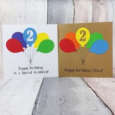 Handmade 2nd birthday card Personalised birthday card with | Etsy Happy Birthday Godson, Happy Birthday Olivia, Birthday Card With Name, Sister Birthday Quotes, Sons Birthday, Happy Birthday Images, Happy Birthday Greetings, Birthday Wishes, Special Birthday