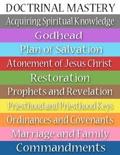 Doctrinal Mastery Color Key