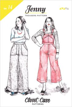 Jenny Overalls, trousers & Shorts Pattern | Envelope Front // from Closet Case Patterns