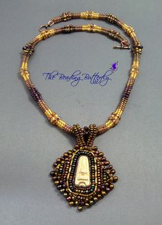 I made the pendant from one of my bead embroidered inchies: [link] The necklace is tubular herringbone. Beaded Jewelry, Jewelry Necklaces, Beaded Necklace, Tours, Deviantart, Beads, Pendant, Beaded Collar, Beading