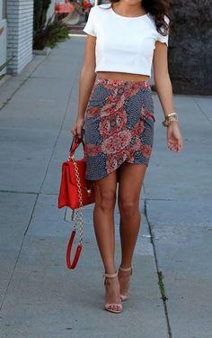 crop top x skirt