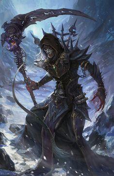 The Necromancer, Chengli Chen on ArtStation at https://www.artstation.com/artwork/6awb5