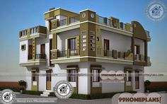 New Style Kerala Homes Double Storey Homes Plans Collections प्रकाश House Front Wall Design, House Outside Design, Village House Design, Kerala House Design, House Design Photos, Narrow House Designs, Modern Exterior House Designs, Architectural Design House Plans, Latest House Designs