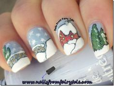 Winter Wonderland - Nails From Fairy Tale Crazy Nail Art, Crazy Nails, Nail Art Tools, Holiday Nails, Winter Wonderland, Nail Art Designs, Fairy Tales, Nail Polish, Girly