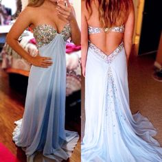 Gorgeous A-Line Prom Dresses,Sequined Prom Dresses,Chiffon Prom Dresses,Backless Prom Dresses,Sweetheart Prom Dresses