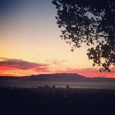 Those clouds tho!  #oakland #hills #sunset #marin #california