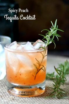 Unique tequila cocktail is a twist on the classic tequila sour. Sweet and spicy with a summery peach flavor. From RestlessChipotle.com