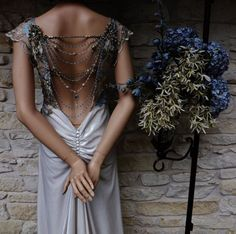 46 Great Gatsby Inspired Wedding Dresses and Accessories/ @ first I thought the mannequin was a person...