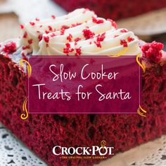 Which treat do you think Santa would rather find on your table? Like for Red Velvet Cake, comment for Nutty Turtle Pudding! Click here for both recipes. #CrockPot