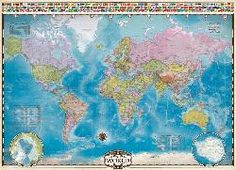 Map of the World - 1000pc Educational Jigsaw Puzzle