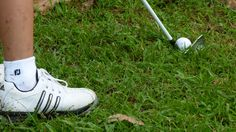 Tags:  Golfer preparing a hit free picture for commercial use, golfer preparing for a hit, close up picture of a golfer preparing a hit...