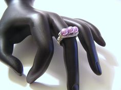 Lavender Pearl Wire Wrapped Silver Ring by monetware on Etsy, $5.00