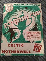 Celtic vs Motherwell 1954   by celticretroprogs