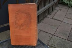 Handmade Leather Bible Cover Lion of Judah by Emmanuelleather, $89.00