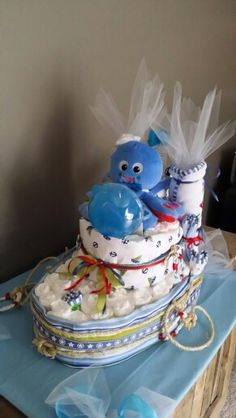 Boat diaper cake