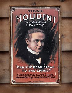 NEW Vintage wooden sign 'Houdini' reproduction by VASSdesign