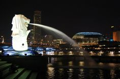 Merlion #mountains #places #nature #earth #night #pics #sightseeing #tour #adventure #travel #trekking #photos #city #map #photographs #singapore #merlion