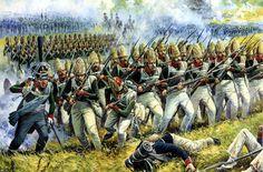 1812 Borodino Attack of Pavlovsk grenadiers, A. Yezhov, year unknown via reddit