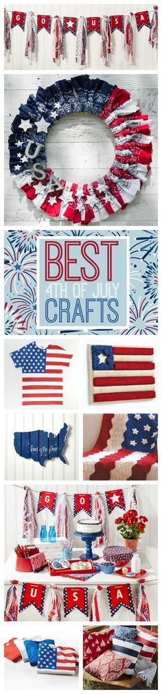 Check out our top 40 patriotic craft ideas! Get the family together and craft for the 4th of July! Click here for more USA and red, white and blue crafts!