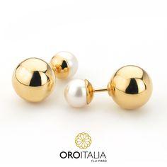 Síguenos en: instagram.com/oroitalia   Aretes dobles de perlas en oro amarillo.  Para precios llámanos al 302-0269 (Costa del Este) ref. 211704   #oroitalia #joyería #oro #gold #joyeríaspanamá #jewelry #panama #trendy #fashion #joyeriaspanama #joyeriaspty #finejewelry #fancy #luxury #aretes #topos #earrings #studs
