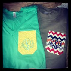 My pocket monogrammed tshirts from Marley Lilly!
