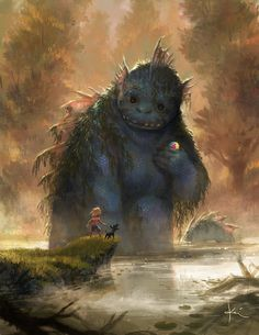 Post with 9008 votes and 260228 views. Tagged with cute, monsters, digital art, illustration; Monsters need love too. Monster Art, Art And Illustration, Illustration Animals, Fantasy Magic, Arte Horror, Inspiration Art, Magical Creatures, Fantasy Artwork, Creature Design