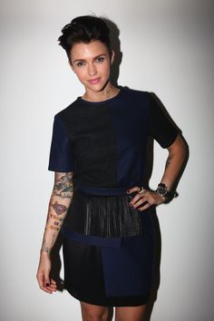 Ruby Rose Photos - Ruby Rose poses backstage ahead of the An Ode To No One show on day three of Mercedes-Benz Fashion Week Australia Spring/Summer at Overseas Passenger Terminal on May 2012 in Sydney, Australia. - MBFWA S/S - An Ode To No One Backstage Ruby Rose Style, Backstage, Metallic Shorts, Orange Is The New Black, Tomboy Fashion, Fashion Pictures, Girl Crushes, Celebrity Style, Style Inspiration