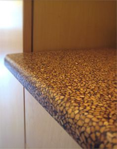 Nuxite Recycled Walnut Shell Countertop - Natural Built Home (www.naturalbuilthome.com)